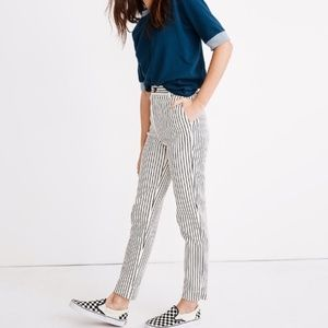 Madewell Striped Tapered Pants - 29
